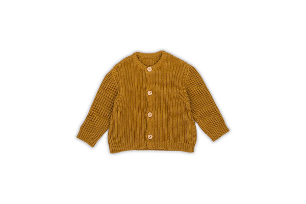 MONKIND - Gold/Senf Strickjacke