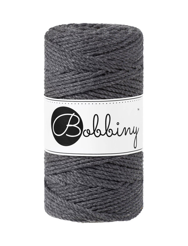 Bobbiny - 3ply 3mm CHARCOAL