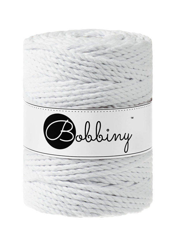Bobbiny - 3ply 5mm WHITE